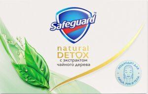 SAFEGUARD Natural Detox Мыло туалетное с экстрактом Чайного дерева 110гр