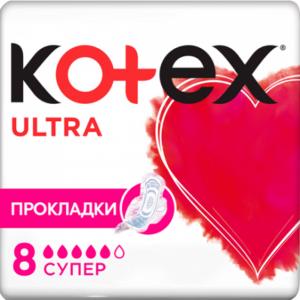 Kotex Прокладки  Ultra Dry Super Pads 8шт