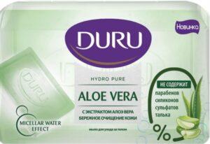 Туалетное мыло DURU Hydro Pure с экстрактом Алоэ вера 110гр