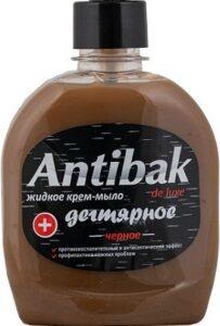Antibak De Luxe жидкое мыло Дегтярное Чёрное без дозатора 330мл