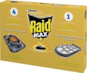 Raid Max приманка от тараканов Система двойного действия 4+1шт
