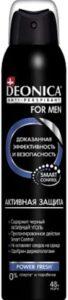 Deonica For Men дезодорант спрей Активная защита Power Fresh 200мл