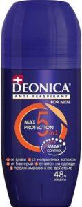 Deonica For Men дезодорант ролик Антибактериальный эффект 5в1 Max Protection 50мл