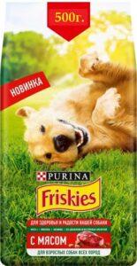 Friskies корм для Взрослых собак с Мясом пак. 500гр