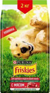 Friskies корм для Взрослых собак с Мясом пак. 2кг