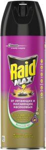 Raid Max аэрозоль от Летающих и Ползающих насекомых Мнгновенное действие Весенний луг 300мл