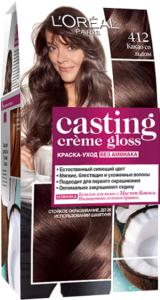 Loreal Paris Casting Creme Gloss краска-уход для волос без Аммиака №412 Какао со льдом 180мл