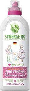 Synergetic гель для стирки Гипоаллергенный для Всех видов тканей 1л