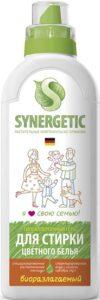 Synergetic гель для стирки для цветного белья Гипоаллергенный 750мл