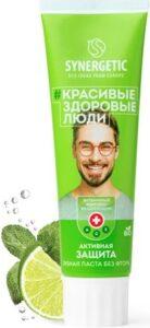 Synergetic ECO зубная паста Активная защита Лайм и Мята 100гр