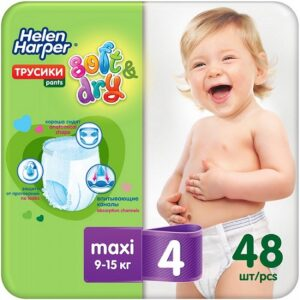 Helen Harper трусики Детские Soft&Dry Maxi №4 (9-15кг) 48шт