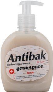 Antibak De Luxe жидкое мыло Дегтярное Белое с дозатором 330мл
