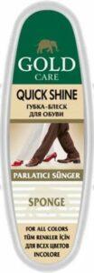 Gold Care губка-блеск для обуви Quick Shine Бесцветная 1шт