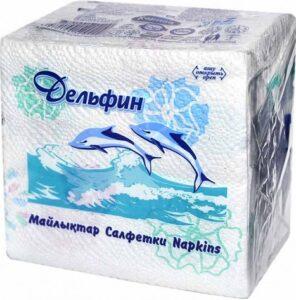 КАРИНА Салфетки Дельфин Белые с рисунком 75шт