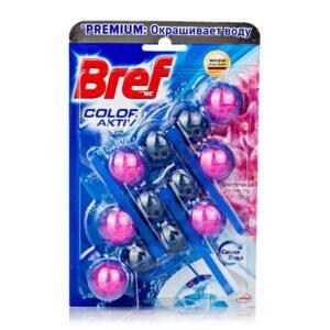Bref Чистящее средство для унитаза Color Aktiv Цветочная Свежесть 3х50гр