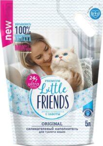 Little Friends кошачий наполнитель Силикагелевый Original 5л