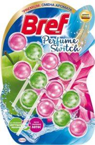 Bref Чистящее средство для унитаза Perfume Switch Яблоня и Лотос 3х50гр