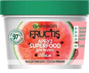 Fructis маска для волос Superfood Объём с экстрактом Арбуза 390мл