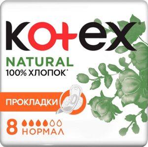 Kotex Прокладки Natural Normal 8шт